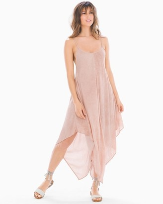 Elan International Scarf Hem Midi Tank Dress Rose