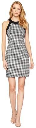 Karen Kane Contrast Check Halter Dress Women's Dress