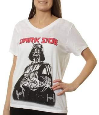 Star Wars Darth Vader Dark Side Women's Burnout Short Sleeve Graphic Tee T-Shirt