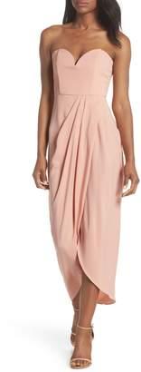 Shona Joy Underwire Bustier Tulip Hem Dress