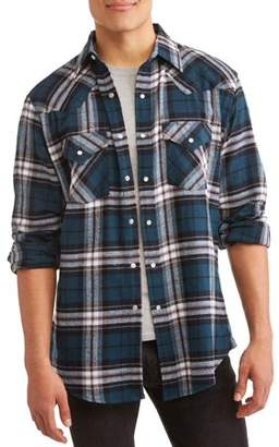 Plains Big And Tall Men's Long Sleeve Flannel Western Shirt