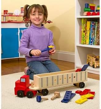 Melissa & Doug Wooden Big Rig Truck Building