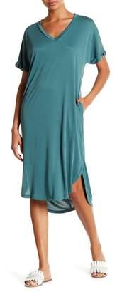Lush V-Neck Cupro Dress