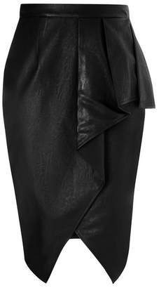 Evans City Chic Black Play Pleather Skirt