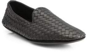 Bottega Veneta Fiandra Intrecciato Foulard Leather Slippers
