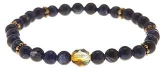 Jean Claude Ecuadorian Sodalite & Bohemian Crystal Bead Bracelet