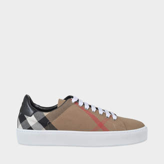 Burberry Westford Check Lace Up Sneakers in Classic Check Cotton