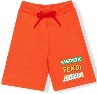 Fendi Kids fantastic colours print track shorts