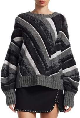Helmut Lang Wool& Cashmere Drape Sweater