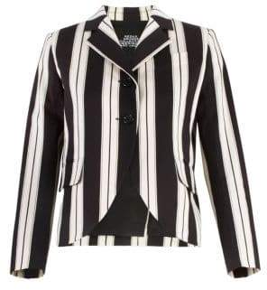 Marc Jacobs Redux Grunge Wide Stripe Stretch Cotton Blazer