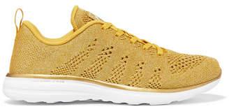 APL Athletic Propulsion Labs Techloom Pro Metallic Mesh Sneakers - Gold