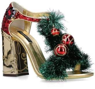 Dolce & Gabbana Leather Baubles Sandals