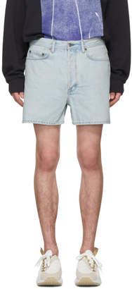 Acne Studios Bla Konst Blue Denim Canoe Shorts