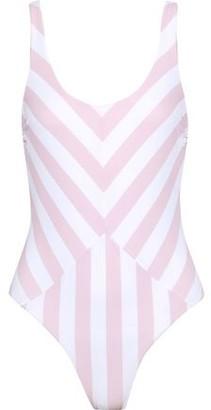 Tori Praver Swimwear Genevie Striped Swimsuit