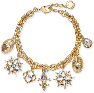 Charter Club Gold-Tone Crystal Charm Bracelet