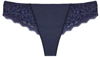 Simone Perele Caresse Dark Blue Lace Briefs