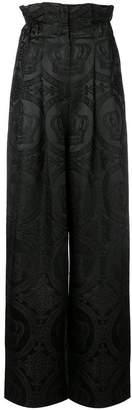 Dolce & Gabbana Palazzo jacquard trousers