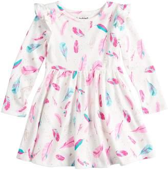 Toddler Girl Jumping Beans Ruffled Shirred Glitter Dress