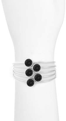 Liz Claiborne Womens Black Bangle Bracelet