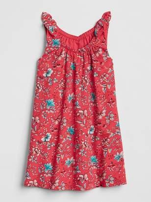 Gap Print Tie-Strap Dress