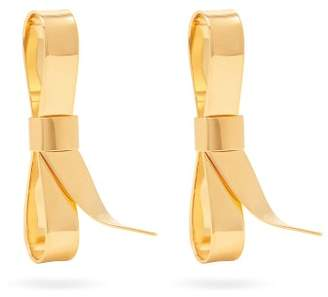 Marni Oversized Bow Earrings - Womens - Gold
