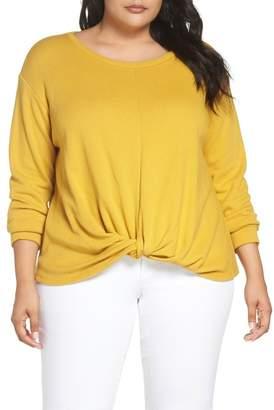 Caslon Twist Front Sweatshirt (Plus Size)