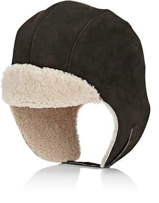 Crown Cap Men's Aviator Sheepskin Hat