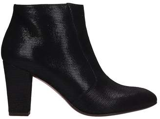 Chie Mihara Black Leather Ankle Boots