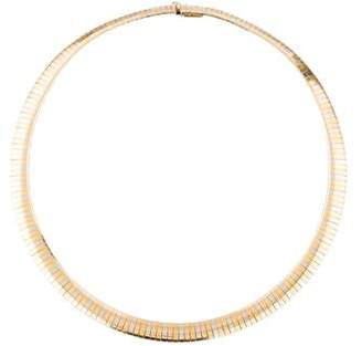 18K Tri-Color Gold Omega Chain Necklace