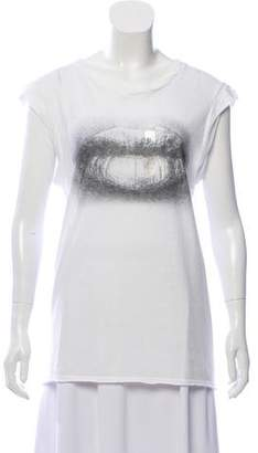 Pam & Gela Printed Sleeveless Top
