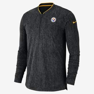 Nike Coach (NFL Steelers) Men's Half-Zip Long Sleeve Top