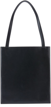 The Row Flat Shiny Leather Tote Bag