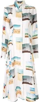 Calvin Klein all over print shirt dress