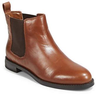 Lauren Ralph Lauren Almond Toe Leather Booties