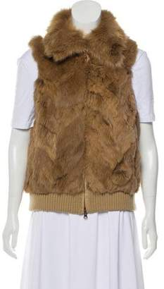 Jocelyn Rabbit & FOx Fur Vest
