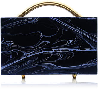 L'Afshar M'O Exclusive Eugene Small Marble Clutch