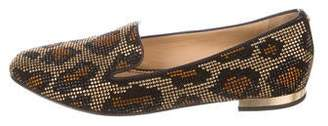 DSQUARED2 Strass Leopard Print Loafers