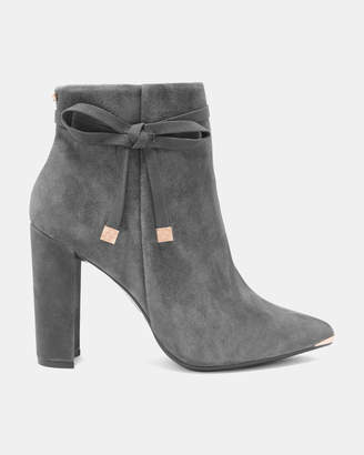 Ted Baker QATENA Suede bow detail ankle boots