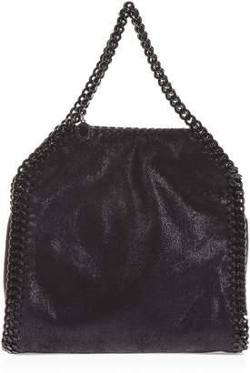 671d7c2cabfa Stella Mccartney Chain Trim Faux Leather Black Bag - ShopStyle