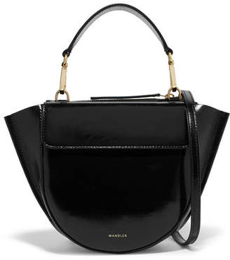 Hortensia Wandler Mini Patent-leather Shoulder Bag - Black