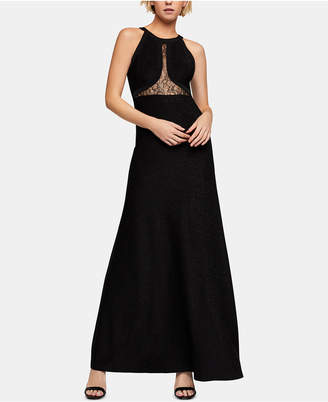 BCBGeneration Lace-Inset Maxi Dress