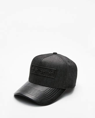 Express Star Logo (Minus The) Leather Baseball Hat