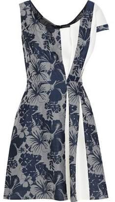 Stella McCartney Raina Cady-paneled Pleated Jacquard Mini Dress