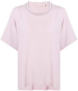Marni washed crepe top
