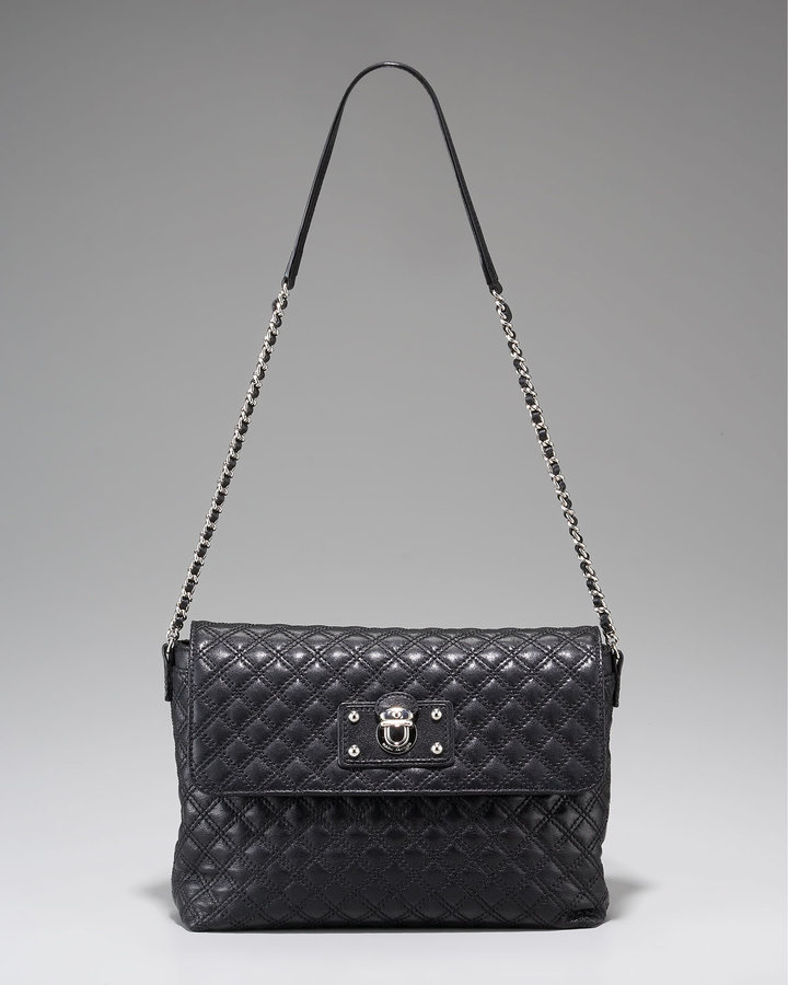 Marc Jacobs Large Single Quilted Bag, Black