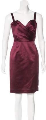 Christian Dior Silk-Blend Pleated Dress