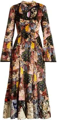 Erdem Zuzanna Kayis Mountain-print velvet dress