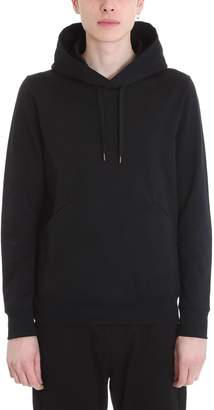 Attachment Black Cotton Hoodie