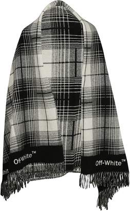 Off-White Checked Scarf