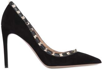 Valentino 100mm Rockstud Suede Pumps